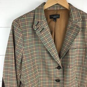 Talbots Jackets & Coats - Talbots 16 Plaid Blazer Jacket Elbow Patch Wool